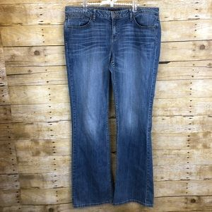 Banana Republic Medium Wash Bootcut Jeans 14 Long